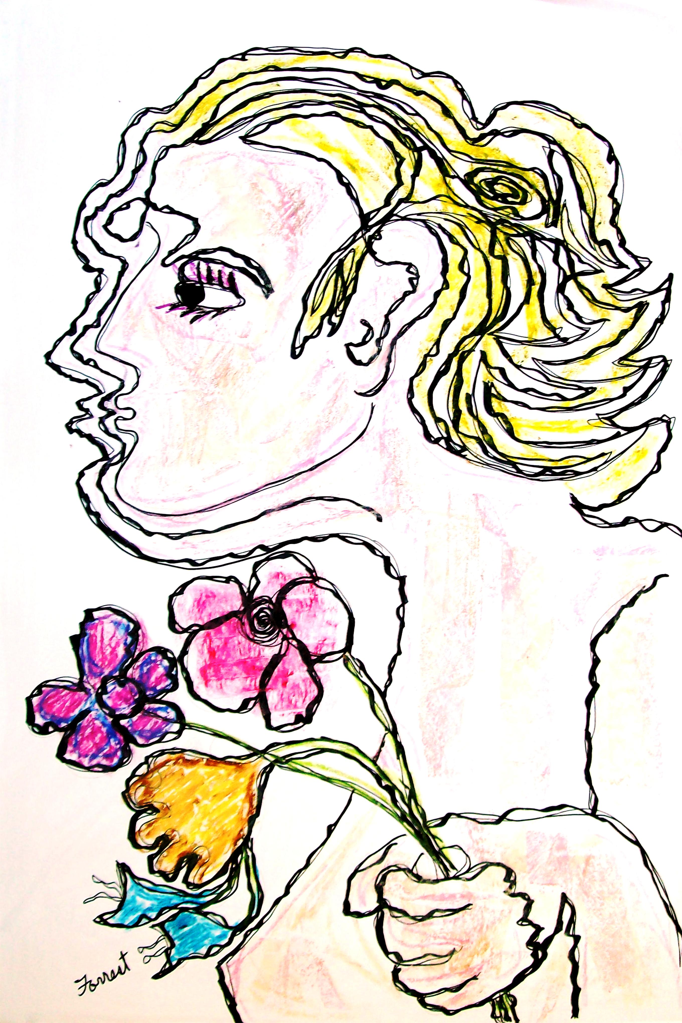 forrest_renaissance_renewed_the_bouquet_ink_oil_pastel_2016